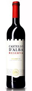 Castello D'alba Reserva Vinhos Do Douro Superior 2009, Douro, Portugal. Chalky dry and full-bodied with mocha-dark chocolate from the oak aging on the nose. Full-bodied and smooth with layers of dark fruit. Great price. For recipe matches, price and score for this wine, visit http://www.nataliemaclean.com/winepicks/wine/castello-dalba-reserva-vinhos-do-douro-superior-2009/107248
