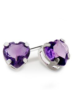 Majesty Diamonds 0.80ctw Amethyst Studs in Sterling Silver - Beyond the Rack