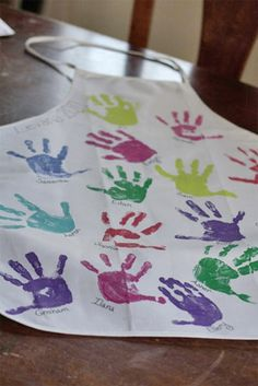 great idea for Luci's teacher but maybe not on an apron but instead a canvas tote or wall hang