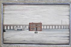 This painting entitled The Viaduct, again by artist LS Lowry, was one of those stolen from the home of Mr Aird