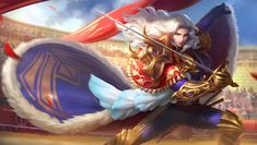 View an image titled 'Lancelot Art' in our Mobile Legends: Bang Bang art gallery featuring official character designs, concept art, and promo pictures. Wallpaper Hp, Mobile Legend Wallpaper, Game Character Design, Character Concept, Concept Art, Bruno Mobile Legends, Hd Landscape, Alucard Mobile Legends, Moba Legends