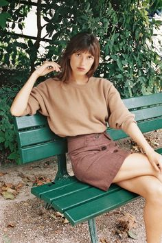 """Who is Jeanne Damas? After a solid hour of online research just one thing is clear, she's as """"it"""" as an """"it girl"""" can get - Jeanne Damas is Paris's answer to Alexa Chung, with a Jeanne Damas, Looks Street Style, Looks Style, Style Me, French Fashion, Look Fashion, Girl Fashion, School Looks, Nathalie Dumeix"""