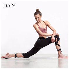 Limited Offer $10.55, Buy Women Ballerina Yoga Pants Sport Leggings Fitness Cross Yoga High Waist Ballet Dance Tight Bandage Yoga Cropped Pants Sportswear