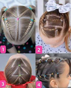 Pretty Hairstyles, Braided Hairstyles, Little Girl Hairdos, Hair Creations, Wild Hair, Toddler Hair, Hairstyles For School, Hair Dos, Natural Hair Styles