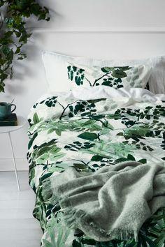 Komplet pościeli w listki - Biały/Zielony - HOME | H&M PL 1