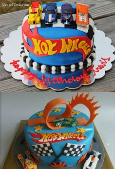 Great Accessories to Beautify Monster Truck Cake Ideas, Hot Wheels Cake Ideas Bolo Hot Wheels, Hot Wheels Cake, Hot Wheels Party, 4th Birthday Cakes, Boy Birthday Parties, Birthday Ideas, Fondant Figures, Little Boy Cakes, Wheel Cake