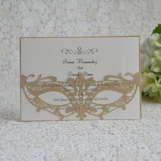 100pcs beautiful mask design party invitation card wedding card
