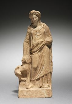 Figurine of Demeter with Pig, 400s BC Greece, Athens, 5th Century BC  terracotta