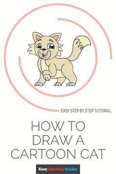 how to draw a cartoon cat easy drawing guides - cartoon cat drawing tutorial Drawing Tutorials For Kids, Cartoon Drawing Tutorial, Comic Drawing, Drawing For Kids, Drawing Sketches, Drawing Tips, Sketching, Simple Cartoon, Cartoon Drawings