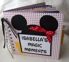 Your Custom Name Disney vacation autograph scrapbook photo album via Etsy