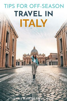 The best time to visit Italy is in the shoulder season (or even winter!), with smaller crowds, cooler temperatures and lower prices. Here's how to plan a trip to Italy to make the most of the off-season! | Italy travel tips | Italy travel guide | Italy travel destinations | How to travel to Italy Travel Tips For Europe, Italy Travel Tips, Budget Travel, Travel Guide, Travel Destinations, Venice Travel, Rome Travel, London England Travel, European Road Trip