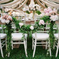 la déco des chaises pour un mariage champêtre