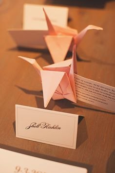 I will definitely have light pink paper cranes at my wedding <3
