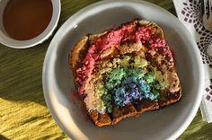 Rainbow French Toast