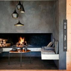 Sweet! - fireplace | CHECK OUT MORE FIREPLACE IDEAS AT DECOPINS.COM | #fireplace #fireplace #hearth #fireplaces #brickfireplace #firepit #fire #firewood #indoorfireplace #outdoorfireplace