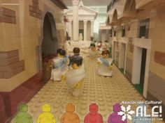 Las calles de una villa romana LEGO