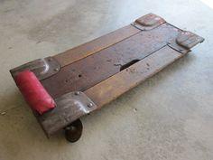 Car Mechanic Dolly Garage Shop Man Wood Rustic Primitive Furniture Car Collector. $64.00, via Etsy.