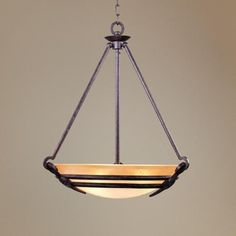 Franklin Iron Works Mission style pendant chandelier