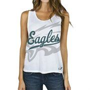 Philadelphia Eagles Junk Food Women's Oversized Logo Tank Top – White