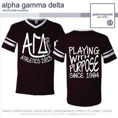88cba7950 Alpha Gamma Delta Sorority Intramural T Shirt from Get Some Greek! Delta  Sorority, Phi