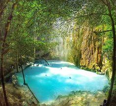 Tumalog Falls Oslob Cebu  Philippines  Photo by @itsyouthaticraig  #cebu #philippinesFun Travel in the Philippines (y)