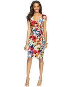 American Living Cap-Sleeve Ruffled Dress | macys.com