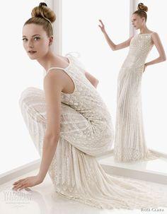 Rosa Clara - long straps bridal gown 2011