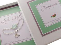 925 Silber Hochzeit Armband Trauzeugin mit Gravur