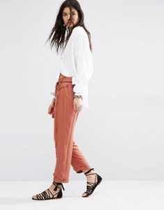 Mango Drawstring Relaxed Trouser