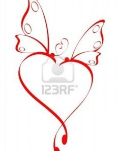 heart butterfly tattoo... good idea to put children's names inside the heart, and on the wings of the butterflies put mommy and daddy