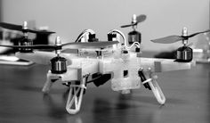 """3D Printed quadcopter - answers the question, """"What would you do with a 3D printer?"""" :)"""
