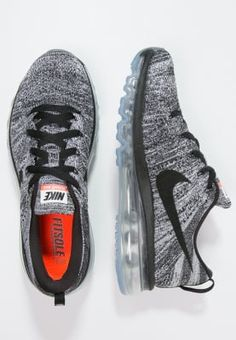 2a23d57d2906 Nike Performance FLYKNIT MAX - Neutral running shoes - black white for with  free delivery at Zalando