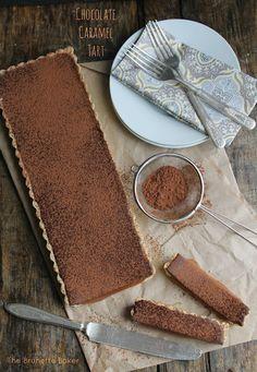 The Brunette Baker: Chocolate Caramel Tart