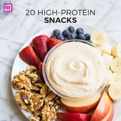 These 20 high-protein snacks will keep you feeling fuller longer than empty calories like chips and cookies. Fuel your fittest body with plenty of protein.