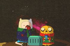 Don't the Adventure Time Christmas specials make you feel warm and cozy inside. :)