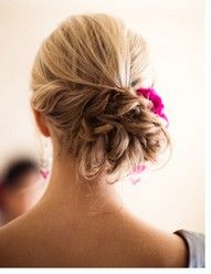 ... bridesmaid hair, wedding styles, braid, prom hair, wedding hairs, messy buns, girl hairstyles, hair style, hair buns