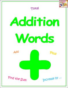 Free Addition Words Poster Free Teaching Resources, Teaching Ideas, Dentist Jokes, Book Bin Labels, Addition Words, Reading Tree, School Forms, Cvce Words, Word Poster