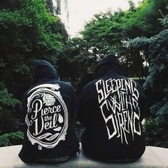 Pierce the Veil and Sleeping with Sirens hoodies