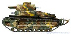 Type 89 Japanese Tank Artwork by Nicolas Gohin