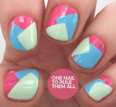 Nails Inc. Collaboration with Teatum Jones - Swatches and Nail Art - One Nail To Rule Them All