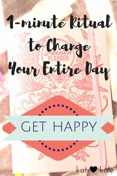This 1-Minute Ritual will help you get out of funk and negativity and get happy again.