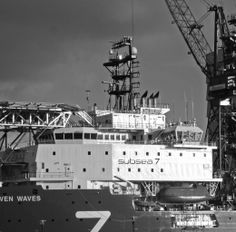 Subsea 7, Seven waves. At Huisman Equipment. Vlaardingen/ Schiedam.
