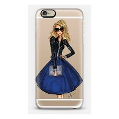 iPhone 6 Plus/6/5/5s/5c Case - Cobalt and Leather ($40) ❤ liked on Polyvore featuring accessories and tech accessories
