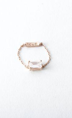 GRACELETTE Diamonette Chain Ring
