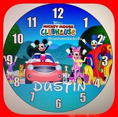 Personalized Mickey Mouse Clubhouse Wall Clock on Etsy, $19.99