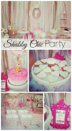 Love these shabby chic girl birthday party ideas! See more party ideas at CatchMyParty.com. #shabbychic #girlbirthday