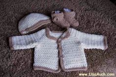 Newborn Baby Cardigan ~ Free Crochet Patterns and Designs by Lisa Auch
