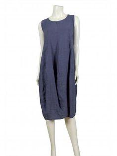 Damen Leinenkleid, blau