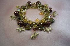 GERMAN SHEPHERD  Dog   ag14 Charm Bracelet   Dog by HOBBYHORSELADY, $54.90
