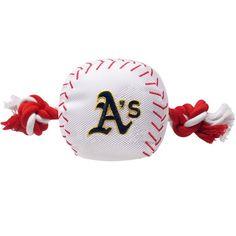 Oakland Athletics Baseball Dog Toy